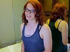 Anastasia Coxx Strokes Her Big Hard Cock!