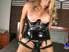 Fleshy Tranny Claudia Plays With The Strap-On 2